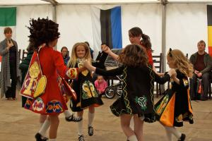 Festival flashback – the O'Donnell Irish Dancers charm the crowded marquee